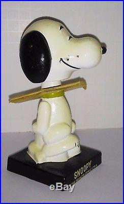 Snoopy Mint in box NODDER BOBBLE HEAD vintage PEANUTS GANG COMIC 60's nice doll