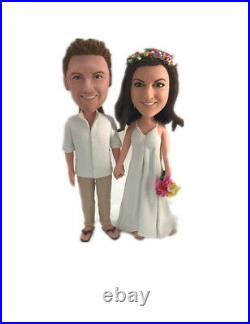 Special Creative Gift Handmade Personalized Custom Polymer Clay Bobbleheads