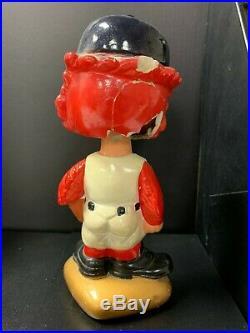 St Louis CARDINALS Vintage Nodder Gold Base Bobblehead Bobbing Bobble Head
