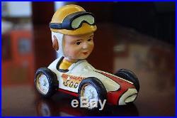 Super HTF Indianapolis Indy 500 Vintage Bobblehead Nodder 1950s Ceramic