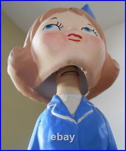 Suzy Smart Stewardess Ceramic Nodder Bobble Bobblehead Vintage 60s Advertising
