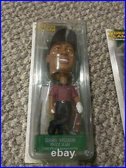 Tiger Woods Upper Deck TIGER SLAM Play Makers set of 4 Bobble Heads Vintage 2002