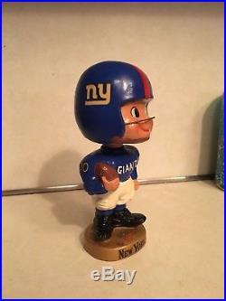 ULTRA RARE Vintage 1960's New York Giants Toes Up Near Mint Bobblehead Nodder