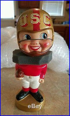 USC Trojans College Football Gold Base Rosey Cheeks Vintage nodder bobble head