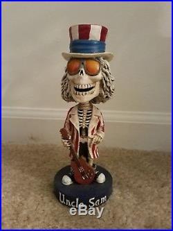 USED 2002 Vintage Grateful Dead Uncle Sam Bobblehead Skeleton Numbered Patriotic