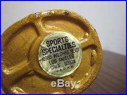 VINTAGE 1960'S TEXAS RANGERS GOLD BASE BOBBLEHEAD NODDER MLB JAPAN