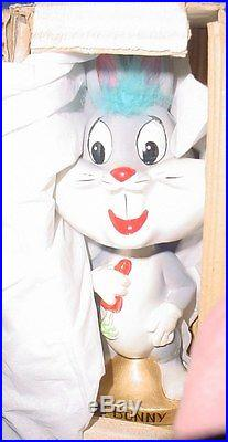 Vintage 1960's Warner Bros. Bugs Bunny Bobblehead Nodder Boxed Minty 1 Owner