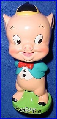 Vintage 1960's Warner Bros. Porky Pig Bobblehead Nodder No Box Minty 1 Owner