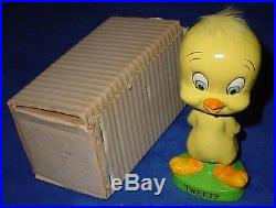 Vintage 1960's Warner Bros. Tweety Bird Bobblehead Nodder Box Minty 1 Owner