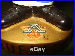 VINTAGE 1960's BUFFALO BILLS AFL EAR PAD SERIES BOBBING HEAD, NICE SHAPE, JAPAN