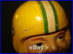VINTAGE 1960's GREEN BAY PACKERS BOBBING HEAD (NODDER) REALISTIC FACE, JAPAN MADE