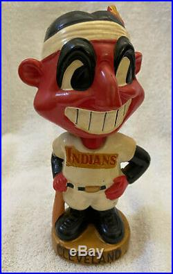VINTAGE 1960s MLB CLEVELAND INDIANS BASEBALL BOBBLEHEAD NODDER BOBBLE HEAD