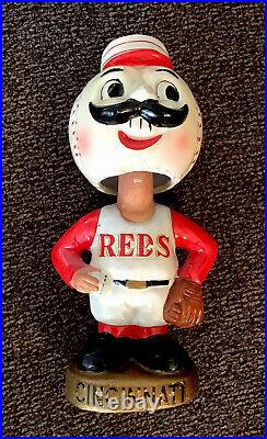 VINTAGE BOBBLEHEAD 1960s Cincinnati Reds NM 7 Nodder MEMORYLEN
