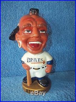 Vintage Bobble Head Nodder Atlanta Braves Japan 1960's One Of Many Listed