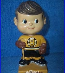 Vintage Bobble Head Nodder Boston Bruins Japan 1962 One Of Many Listed