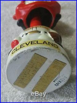 VINTAGE CLEVELAND INDIANS MASCOT MINI BOBBLE HEAD 4 1/2 NODDER BOX