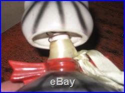 VINTAGE HOWARD HOLT COIN KITTY BOBBING BOBBLE HEAD BANK -BLACK&WHITE POTTERY