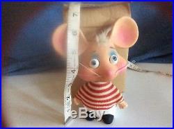 VINTAGE TOPO GIGIO Rossini Japan Bobble Head Mouse Ed Sullivan Show 1960s Nodder