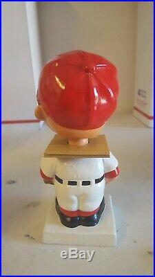 VTG 1960's PHILADELPHIA PHILLIES BOBBLEHEAD NODDER WHITE BASE JAPAN IN BOX MLB