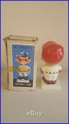 VTG 1960s BOSTON RED SOX BOBBLEHEAD NODDER WHITE BASE JAPAN GEM MINT IN BOX