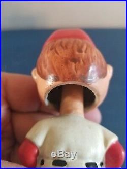 (VTG) 1960s Boston redsox moon face mini bobble head nodder doll Japan rare