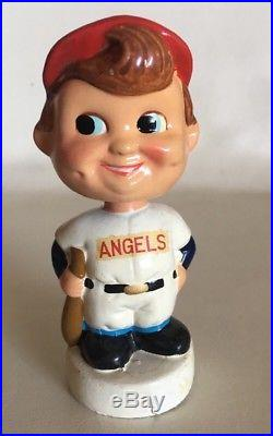 (VTG) 1960s CA ANGELS BOBBLE HEAD MINI NODDER BASEBALL DOLL JAPAN California