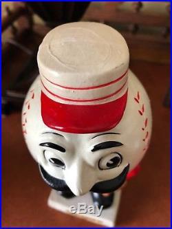 VTG 1960s CINCINNATI REDS MASCOT BOBBLE HEAD NODDER DOLL WHITE BASE JAPAN