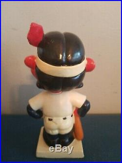 VTG 1960s Cleveland Indians mascot bobbing head nodder doll white base