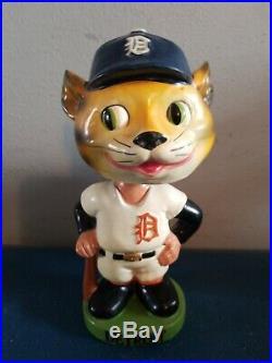 VTG 1960s Detroit tigers mascot bobbing head nodder doll green base japan
