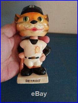 VTG 1960s Detroit tigers mascott bobbing head nodder doll white base japan