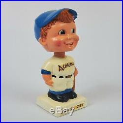 (VTG)1960s Kansas City Athletics Boy Face Mini Baseball Bobble Head Nodder Japan