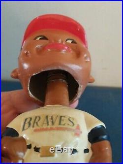 (VTG) 1960s Milwaukee braves baseball black face bobble head nodder Japan