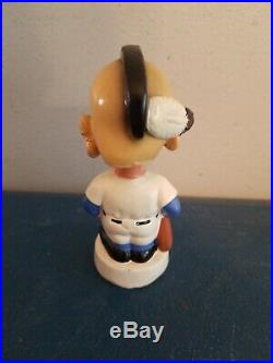 VTG 1960s Milwaukee braves mascot baseball mini bobble head nodder bat Japan