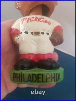 (VTG) 1960s Philadelphia Phillies black face nodder bobbing head doll Japan rare