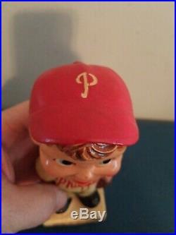 VTG 1960s Philadelphia phillies bobbing head nodder doll white base japan