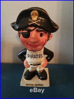 (VTG) 1960s Pittsburgh pirates bobbing head nodder doll white base japan rare