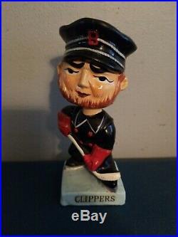 VTG 1960s baltimore clippers hockey bobbing head nodder doll blue base japan
