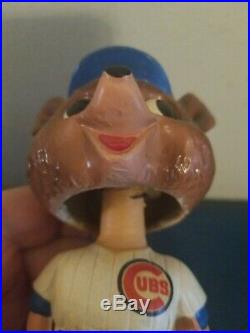 VTG 1960s chicago cubs mascot bobbing head nodder doll green base japan