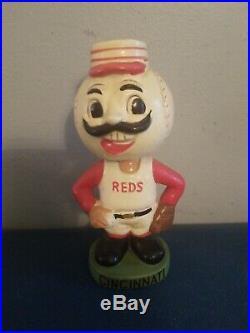 VTG 1960s cincinnati reds mascot bobbing head nodder doll green base japan