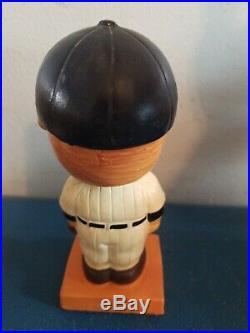 VTG 1960s ny Yankees bobbing head nodder doll orange square base Japan
