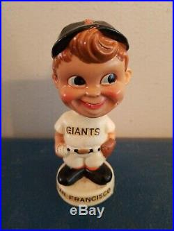 (VTG) 1960s san Francisco giants baseball mini bobble head nodder doll Japan