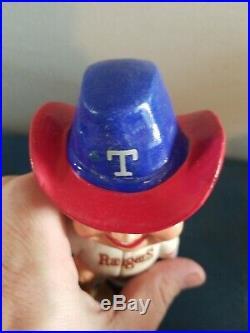 VTG 1972 texas rangers baseball guy & cowboy hat nodder bobblehead doll japan