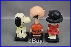 VTG Peanuts Comic Strip Bobble Head Nodder Set 6 LEGO United Feature Syndicate