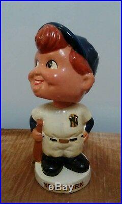 VTG RARE 1960s NEW YORK YANKEES Nodder Bobble Bobbin Head JAPAN/ WHITE BASE MLB