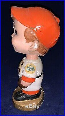 Very Rare Vintage 1960s Houston Astros Shooting Star Gold Base Nodder Bobblehead