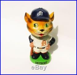 Very Rare Vtg 1962 Japan Detroit Tigers Bobble Head Nodder Baseball Doll Mlb