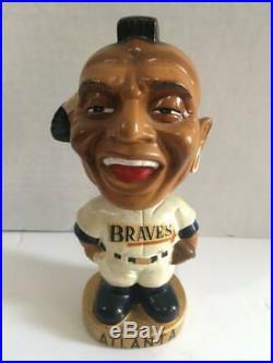 Vintage1960's Atlanta Braves Round Gold Base Bobblehead Nodder