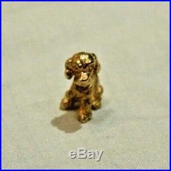 Vintage 14K Yellow Gold Bobble Head Puppy Dog Charm