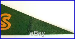 Vintage 1950's Green Bay Packers Large Pennant 30 X 12