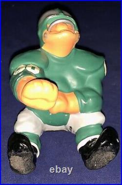Vintage 1950's Philadelphia Eagles Small Down Lineman Fred Kail Football Statue